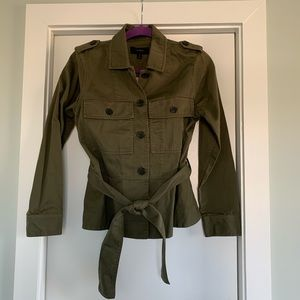NWT J.Crew Military Green Jacket Peplum Hem